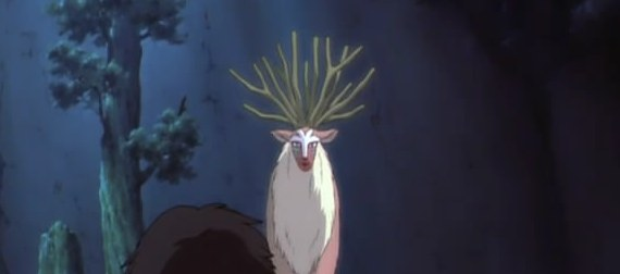 princess mononoke forest spirit scene